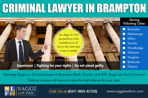 Brampton Criminal Lawyer Mandeep Saggi